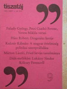 Alföldy Jenő - Tiszatáj 1995. szeptember [antikvár]