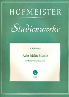 BAKLANOWA, A. - ACHT LEICHTE STÜCKE FÜR KLARINETTE UND KLAVIER (A.STARK)