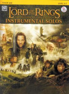 SHORE, WALSH - THE LORD OF THE RINGS FOR TENOR SAX, LEVEL 2-3