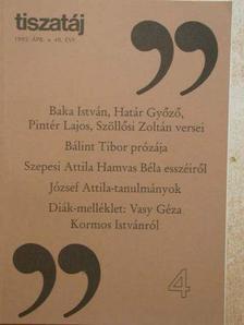 Alföldy Jenő - Tiszatáj 1995. április [antikvár]