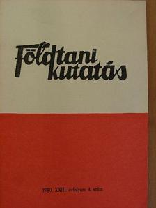 Dr. Alliquander Ödön - Földtani Kutatás 1980/4. [antikvár]