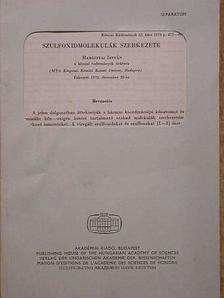 Hargittai István - Szulfoxidmolekulák szerkezete [antikvár]
