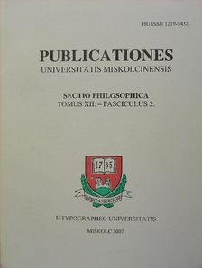 Barócziné Nagy Terézia - Publicationes Universitas Miskolciensis [antikvár]