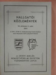 Dési András - Hallgatói közlemények 2003/2. [antikvár]