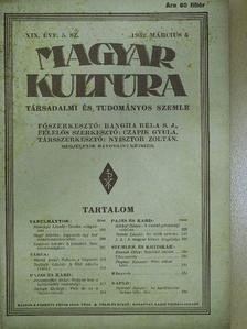 Balogh György - Magyar Kultúra 1932. március 5. [antikvár]