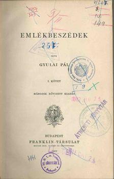 Gyulai Pál - Emlékbeszédek I. [antikvár]