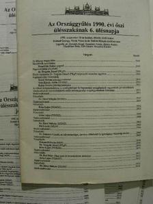 Kósa Lajos - Az Országgyűlés 1990. évi őszi ülésszakának jegyzőkönyvei (nem teljes évfolyam) [antikvár]