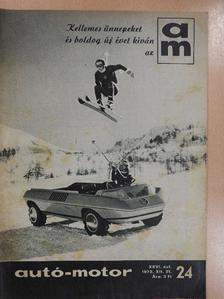 Dékán György - Autó-Motor 1973. december 21. [antikvár]