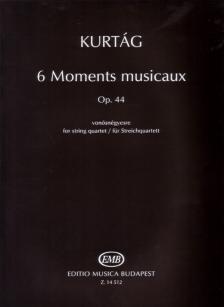 KURTÁG GYÖRGY - 6 MOMENTS MUSICAUX OP.44 VONÓSNÉGYESRE