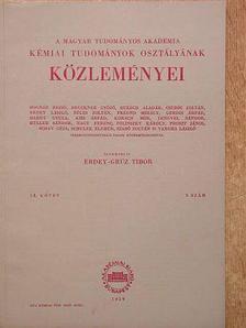 Fenichel László - A Magyar Tudományos Akadémia Kémiai Tudományok Osztályának Közleményei 1959. [antikvár]