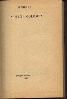 Prosper Mérimée - Carmen Colomba [antikvár]