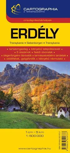 """Cartographia - ERDÉLY ORSZÁGRÉSZTÉRKÉPEK - CART. - """"SC"""" -"""