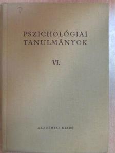 Adorjáni Csaba - Pszichológiai tanulmányok VI. [antikvár]