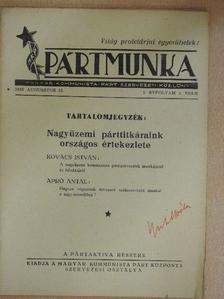 Apró Antal - Pártmunka 1945. augusztus 15. [antikvár]