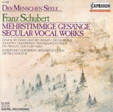 SCHUBERT - SECULAR VOCAL WORKS CD DIETRICH KNOTHE