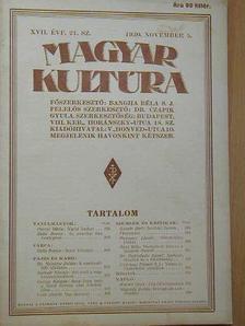 Balla Borisz - Magyar Kultúra 1930. november 5. [antikvár]