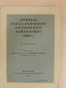 """Gróh Gyula - """"Stella"""" Csillagászati Egyesület Almanachja 1926-ra [antikvár]"""