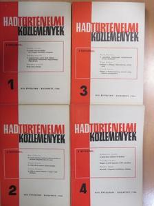 Angyal Endre - Hadtörténelmi Közlemények 1966/1-4. [antikvár]