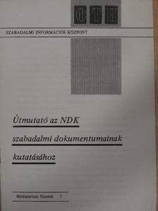 Kincses István - Útmutató az NDK szabadalmi dokumentumainak kutatásához [antikvár]