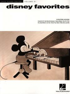 JAZZ PIANO SOLOS VOL. 51 DISNEY FAVORITES