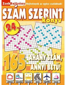 CSOSCH KIADÓ - ZsebRejtvény SZÁM SZERINT Könyv 24.