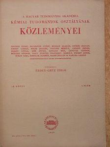 Hajós Andor - A Magyar Tudományos Akadémia Kémiai Tudományok Osztályának Közleményei 1959. [antikvár]