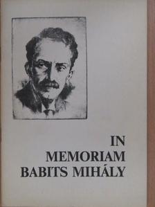 Bertók László - In memoriam Babits Mihály [antikvár]