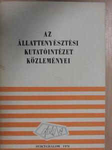 Barna István - Az Állattenyésztési Kutatóintézet közleményei [antikvár]