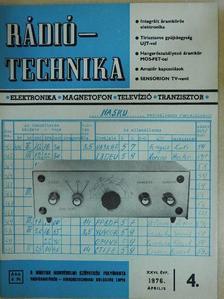 Albert Péter - Rádiótechnika 1976. április [antikvár]