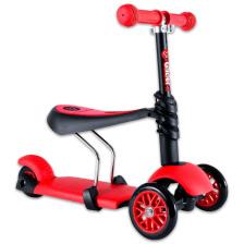 Y Glider 3 az 1-ben Multifunkciós Roller piros
