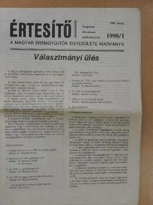 Dr. Mészáros István - Értesítő 1990/1.  [antikvár]