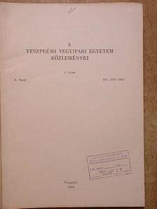 Árva P. - A Veszprémi Vegyipari Egyetem közleményei 8. kötet 4. füzet [antikvár]