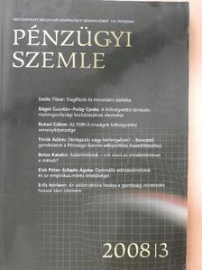 Bod Péter Ákos - Pénzügyi Szemle 2008/3 [antikvár]