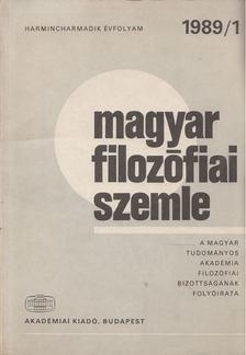 Tengelyi László - Magyar filozófiai szemle 1989/1 [antikvár]