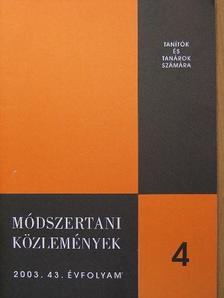 Dr. Domonkos János - Módszertani közlemények 2003/4. [antikvár]