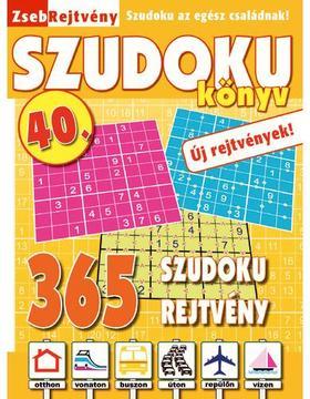 CSOSCH KIADÓ - ZsebRejtvény SZUDOKU Könyv 40.