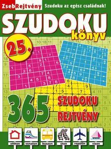 CSOSCH KIADÓ - ZsebRejtvény SZUDOKU Könyv 25.