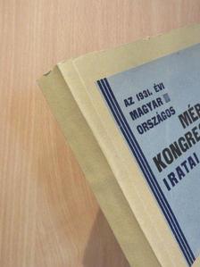 Barna-Szögyény Bertalan - Az 1931. évi Magyar Országos Mérnökkongresszus iratai [antikvár]