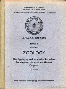 Gwynn, A. M. - The Egg-Laying and Incubation Periods of Rockhopper, Macaroni and Gentoo Penguins (Az aranytollú, bóbitás és a szamárpingvin tojásrakó és költési időszaka) [antikvár]