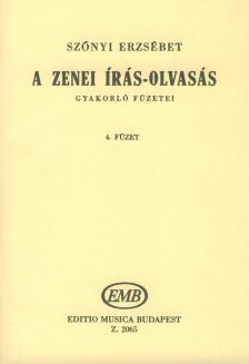 SZŐNYI ERZSÉBET - A ZENEI ÍRÁS-OLVASÁS GYAKORLÓ FÜZETEI 4. (58-69.LECKÉIG)