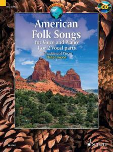 AMERICAN FOLK SONGS FOR VOICE AND PIANO 1 OR 2 VOCAL PARTS. 20 TRADITIONA PIECES
