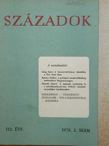 Baksay Zoltán - Századok 1978/5. [antikvár]