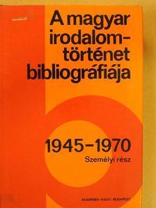 Botka Ferenc - A magyar irodalomtörténet bibliográfiája 8. [antikvár]