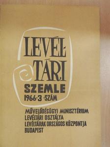 Bálint Ferenc - Levéltári Szemle 1966. szeptember-december [antikvár]