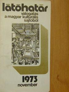 Ágh István - Látóhatár 1973. november [antikvár]