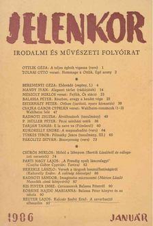 Szederkényi Ervin - Jelenkor 1986. január [antikvár]