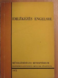 Bimbó Mihályné - Emlékezés Engelsre [antikvár]