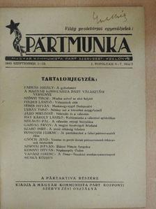 Dömötör Ferenc - Pártmunka 1945. szeptember 1-15. [antikvár]