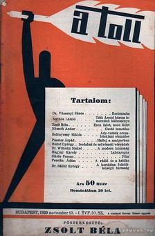 ZSOLT BÉLA - A toll I. évf. 30. sz. (1929. november 10.) [antikvár]