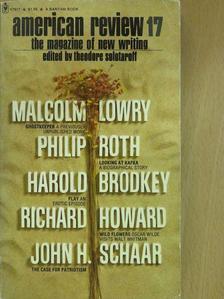 Harold Brodkey - American Review 17. may 1973. [antikvár]